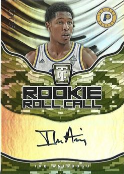 Anigbogu Ike - 2017-18 Totally Certified Rookie Roll Call Autographs Camo #IKE Ike Anigbogu #ed 13/25