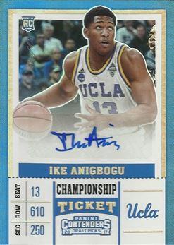 Anigbogu Ike - 2017-18 Panini Contenders Draft Picks College Championship Ticket #103A Ike Anigbogu #ed 1/1