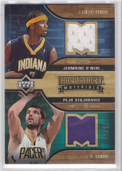 2006-07 Upper Deck Hardcourt Materials Dual #SO Peja Stojakovic/Jermaine O'Neal 50 $10.00