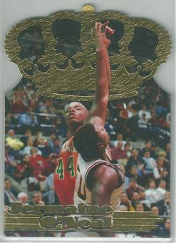 1996 Pacific Power Gold Crown Die Cuts #GC11 Jermaine O'Neal