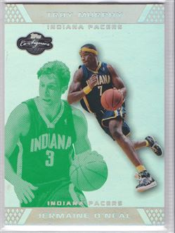 2007-08 Topps Co-Signers Silver Green Foil #7A Jermaine O'Neal/Troy Murphy
