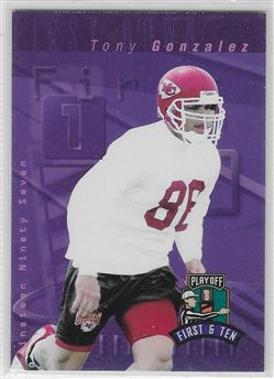 1997 Playoff First and Ten #62 Tony Gonzalez RC