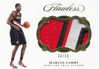 2016-17 Panini Flawless Patches Gold #46 Marcus Camby/10