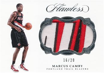2016-17 Panini Flawless Patches #46 Marcus Camby/20