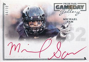 2014 Press Pass Gameday Gallery Silver Red Ink #GGMS Michael Sam/17*