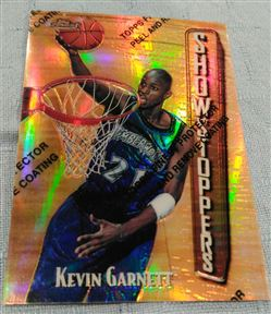 1997-98 Finest Gold Refractor Showstoppers Kevin Garnett 21/289