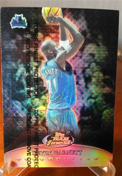 1999-00 Finest Team Finest Red Refractor Kevin Garnett 21/50