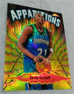 1998-99 Topps Chrome Kevin Garnett Apparitions Refractor 21/100