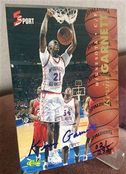 1995 Classic 5 Sport Kevin Garnett Blue Signature 21/295