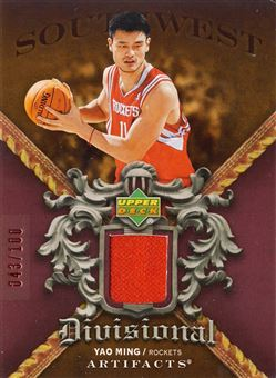 2007-08 Artifacts Divisional Artifacts Red #DAYM Yao Ming