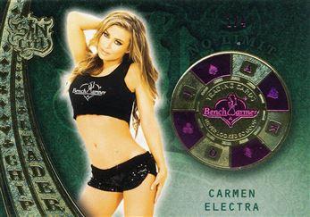 2015 Bench Warmer Sin City Chip Leaders Pink Foil #53 Carmen Electra