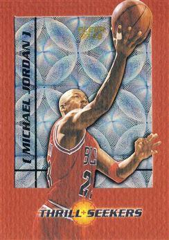 1997-98 Fleer Thrill Seekers #07 Michael Jordan