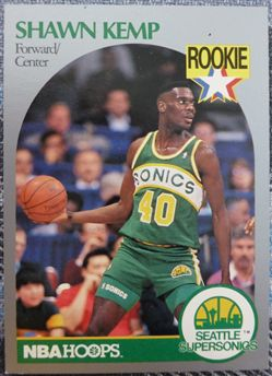 1990-91 Hoops 279 Shawn Kemp RC