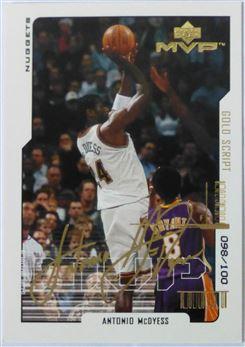 2000-01 MVP Gold script Antonio McDyess