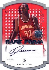 2003-04 SkyBox LE Rare Form Autographs 50 #7 Boris Diaw