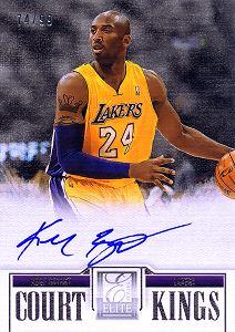 2012-13 Elite Series Court Kings Autographs #49 Kobe Bryant