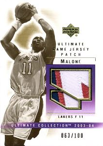 2003-04 Ultimate Collection Patches #KM Karl Malone