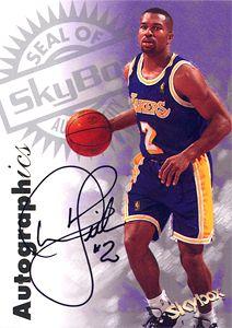 1997-98 SkyBox Premium Autographics #38 Derek Fisher