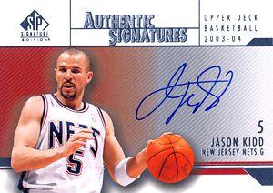 2003-04 SP Signature Edition Signatures #JK Jason Kidd