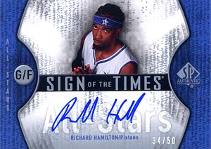 2006-07 SP Authentic Sign of the Times All-Stars #RH Richard Hamilton