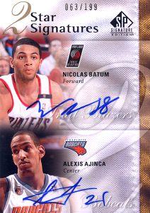 2009-10 SP Signature Edition 2 Star Signatures #2SBA Nicolas Batum/Alexis Ajinca