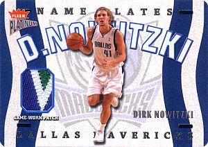 2002-03 Fleer Platinum Nameplates #DN Dirk Nowitzki