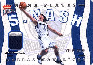 2002-03 Fleer Platinum Nameplates #SN Steve Nash