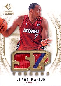 2008-09 SP Rookie Threads SP Threads Patch #TSM Shawn Marion