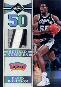 2011-12 Limited Retired Numbers Materials Prime #10 David Robinson