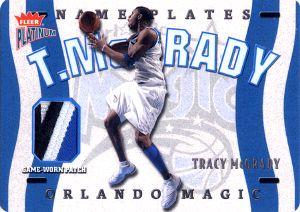2002-03 Fleer Platinum Nameplates #TM Tracy McGrady