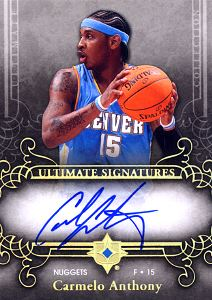 2006-07 Ultimate Collection Signatures #USCA Carmelo Anthony
