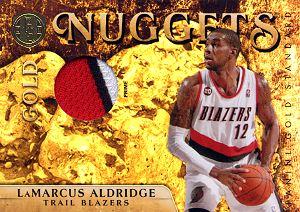 2010-11 Panini Gold Standard Gold Nuggets Materials Prime #14 LaMarcus Aldridge