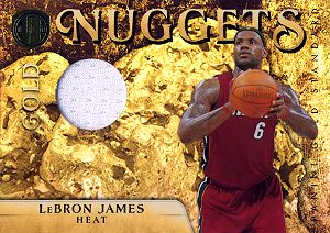 2010-11 Panini Gold Standard Gold Nuggets Materials #1 LeBron James
