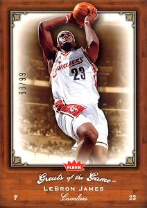 2005-06 Greats of the Game Gold #53 LeBron James