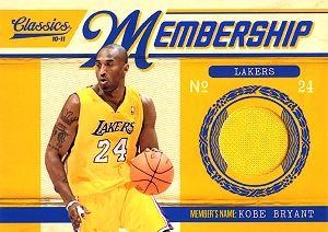 2010-11 Classics Membership Materials #12 Kobe Bryant