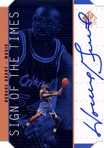 1998-99 SP Authentic Sign of the Times Bronze #HG Horace Grant