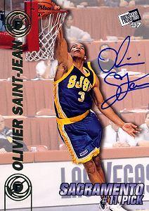 1997 Press Pass Double Threat Autographs #11A Olivier Saint-Jean