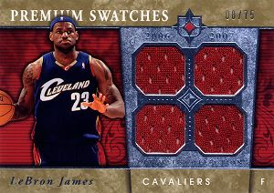 2006-07 Ultimate Collection Premium Swatches #PRLJ LeBron James