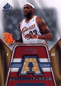 2007-08 SP Game Used Authentic Fabrics #AFLJ LeBron James