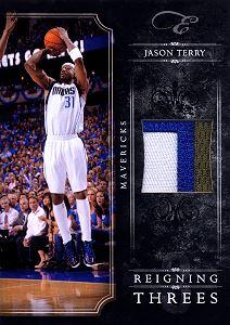 2010-11 Elite Black Box Reigning Threes Materials Prime #7 Jason Terry