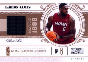 2010-11 Playoff National Treasures Century Materials #54 LeBron James