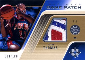 2004-05 Ultimate Collection Game Patches #IT Isiah Thomas
