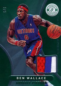 2012-13 Totally Certified Green Materials Prime #118 Ben Wallace