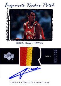 2003-04 Exquisite Collection #61 Boris Diaw
