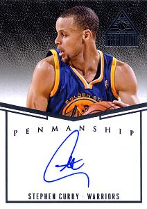 2014-15 Paramount Penmanship Autographs #14 Stephen Curry