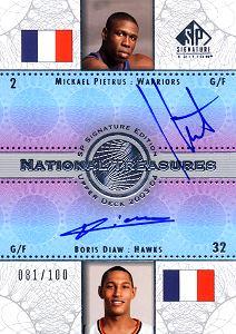 2003-04 SP Signature Edition National Treasures #NT3 Boris Diaw/Mickael Pietrus