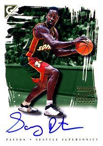 2000-01 Topps Gallery Signatures #GSGP Gary Payton E