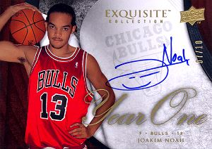 2007-08 Exquisite Collection Year One Autographs #Y1JN Joakim Noah