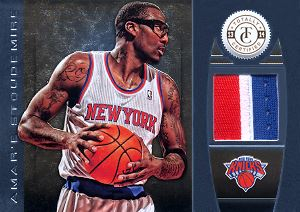 2013-14 Totally Certified Materials Gold Prime #78 Amar'e Stoudemire