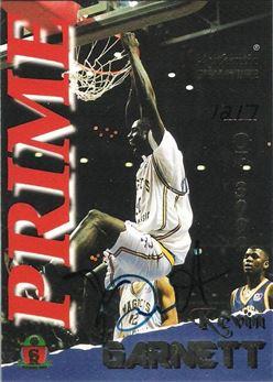 1995 Signature Rookies Prime Signatures #16 Kevin Garnett